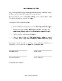 Personal Loan Contract Template by Personal Loan Contract Hashdoc