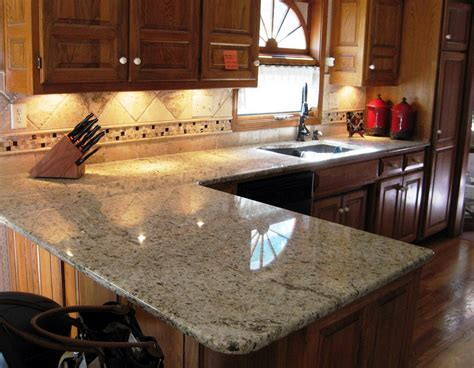 granite kitchen countertop ideas santa cecilia light granite to create glamour and modern