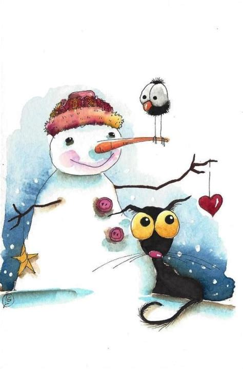 win a 1000 whimsical winter 1000 images about winter on bird watercolor painting and snowman
