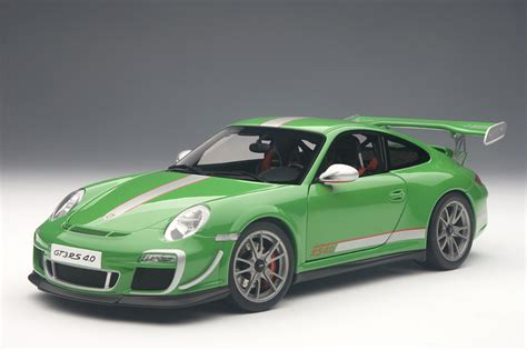 Porsche Gt3 Model Car by Porsche 911 997 Gt3 Rs 4 0 In Green Diecast Model Car By