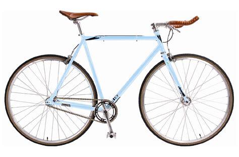 single speed road bike charge plug large baby blue steel singlespeed fixie bike
