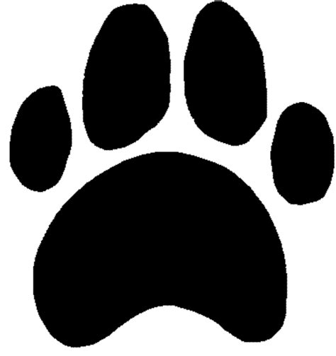 bulldog pawprint clipart best