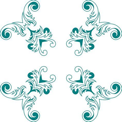 design image clipart vintage floral style design 7