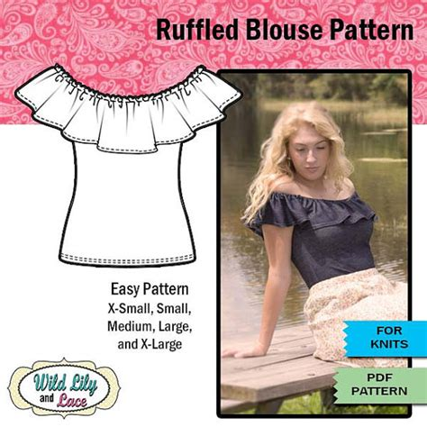 ruffle shirt pattern ruffle blouse pattern