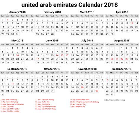 emirates holidays 2018 united arab emirates calendar 2018 25 newspictures xyz