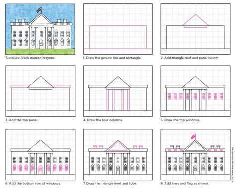 Draw The White House Art Projects For Kids