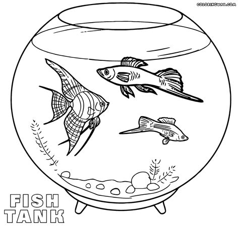 aquarium coloring pages coloring pages to download and print