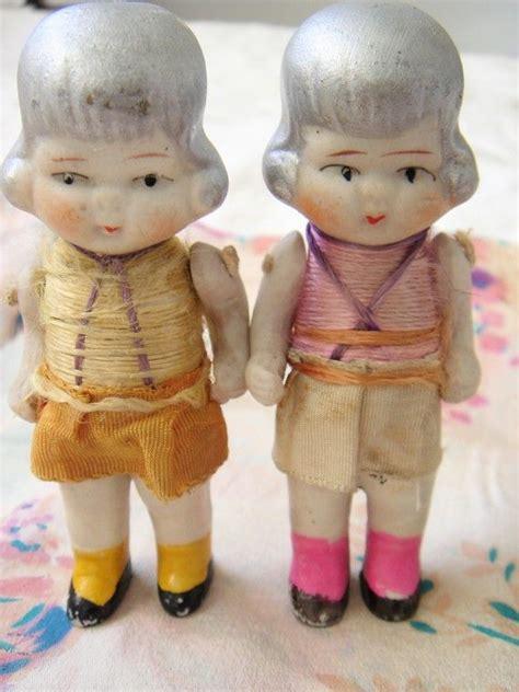 vintage bisque flapper doll vintage bisque dolls silk thread flappers