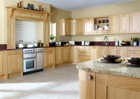wooden kitchen cabinet yellow kitchen walls with oak cabinets