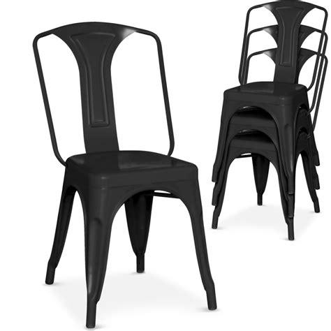 chaise metal noir chaise m 233 tal noir brinx lestendances fr