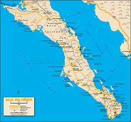 baja california peninsula map baja sur map all about baja baja calif