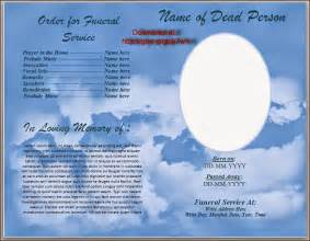 Free Funeral Program Template by Free Funeral Program Templates