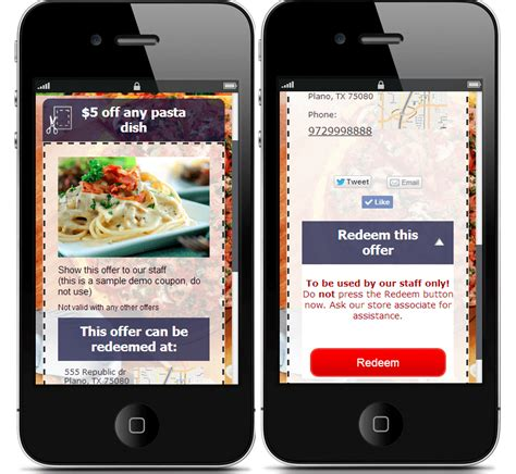 mobile coupons coupon software create mobile coupons for your website