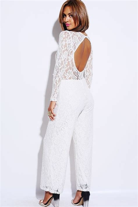 Limited Edition Romper Tuxedo List Burberry limited edition beige white lace backless evening jumpsuit dresses wide legs