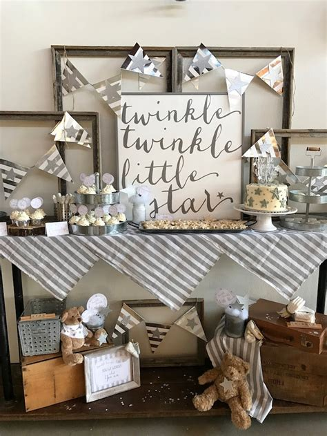 Rustic Baby Shower Theme by Kara S Ideas Rustic Twinkle Gender Reveal Baby