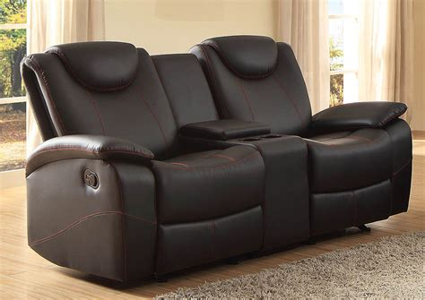 reclining loveseat with center console long island discount furniture talbot black double glider