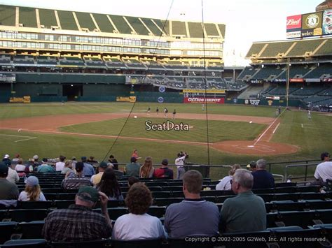 section 8 alameda county oakland athletics oakland coliseum section 119