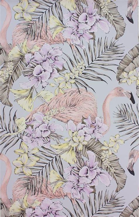 flamingo wallpaper matthew williamson flamingo club wallpaper in silver by matthew williamson