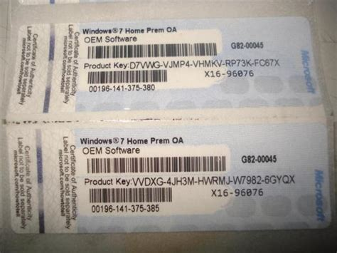 Windows 7 Home Premium Key by Home Premium 64 Bit Label Product Key Sticker