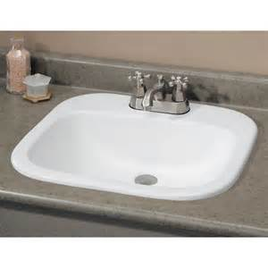 drop in bathroom sink shop cheviot ibiza white drop in rectangular bathroom sink