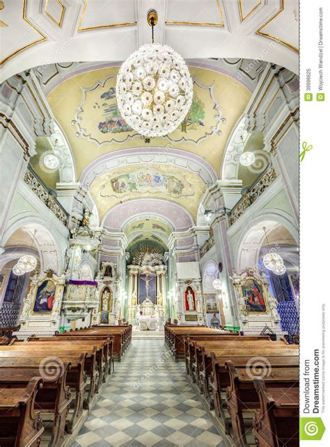 european church interior stock photo image