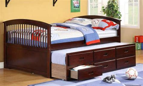 Size Trundle Bed With Drawers by Size Captain Bed With Trundle And 3 Drawers