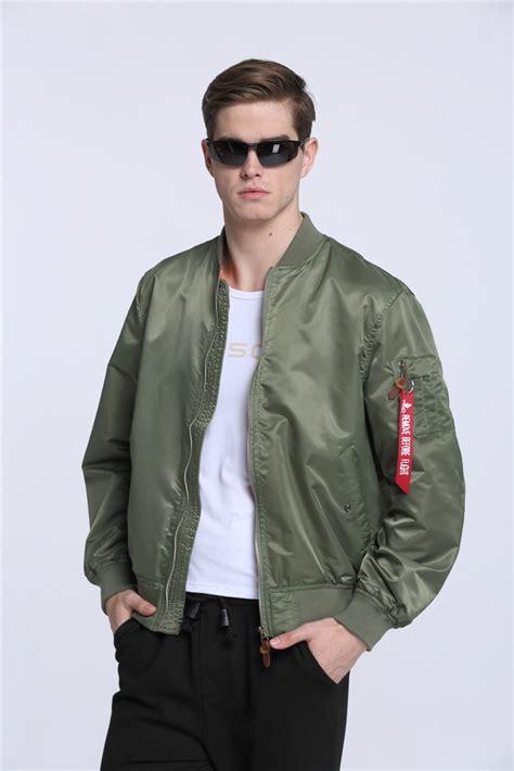 Jaket Bomber Bgsr Green Army aliexpress buy 2017 high quality ma1 army green tactical varsity flight