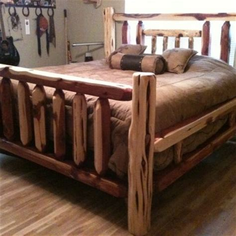 Cedar Wood Bed Frame Cedar Bed Frame Rustic Decor Pinterest