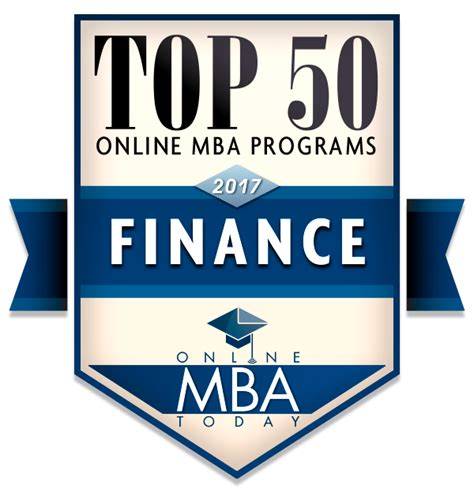 Work From Home For Mba Finance by Top 50 Mba Programs In Finance 2017 Mba Today