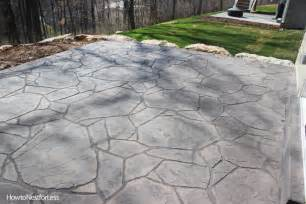 Diy Outdoor Fireplace Ideas - stamped concrete patios upcoming weekend project how to nest for less