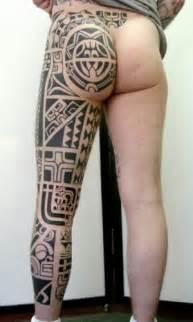 Polynesian Inspired Leg Dimattia Tattoonow