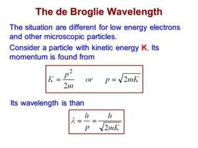 De Broglie Wavelength Of A Proton The Wavelike Properties Of Particles Ppt