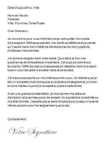 Exemple De Lettre De Démission Suisse exemple lettre de demission suisse