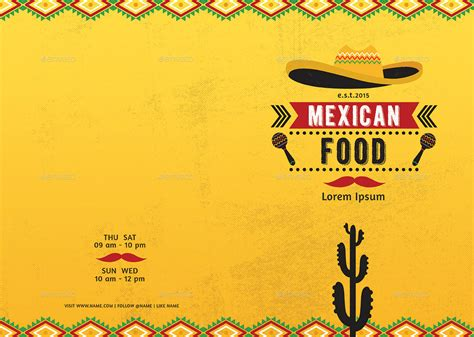 mexican restaurant menu template mexican food menu by d s graphicriver