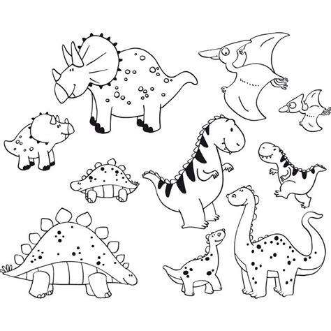 dinosaur rubber st dinosaur images for coloring home