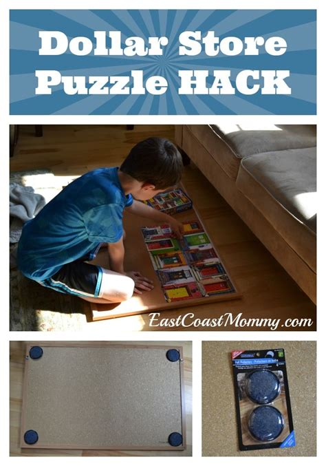 dollar store hacks dollar store puzzle hack dollar stores puzzles and ideas