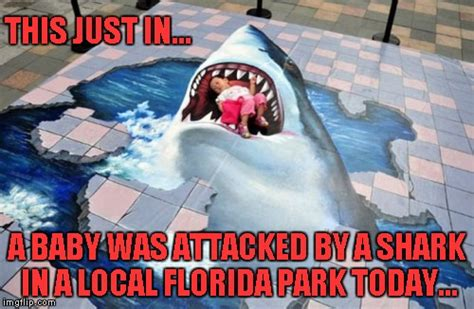 baby shark meme just when you thought it was safe to go back to the park