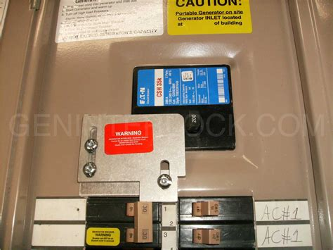 generator interlock kit eaton cutler hammer 150 to 200