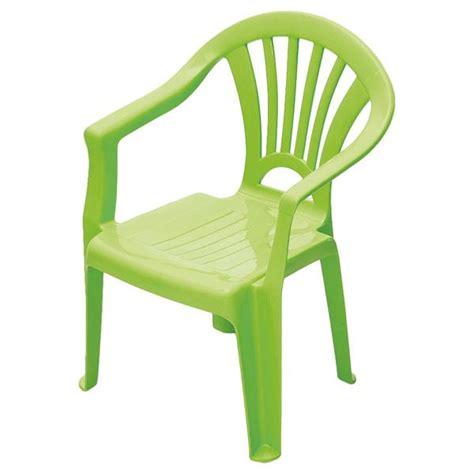 chaise enfant plastique vert chaise verte pour jardin