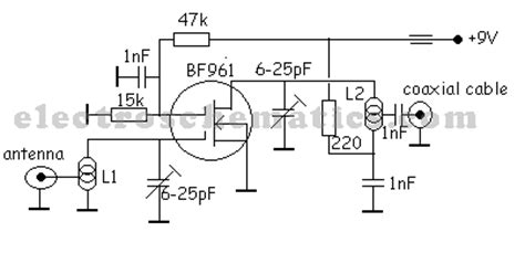 tv antenna lifier circuit
