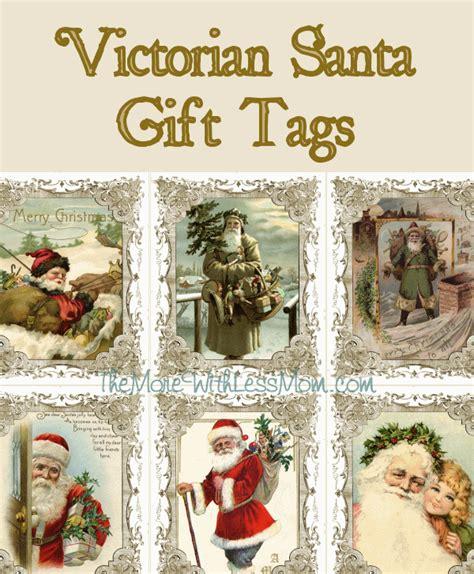 printable victorian christmas tags printable victorian santa christmas gift tags housepunkery