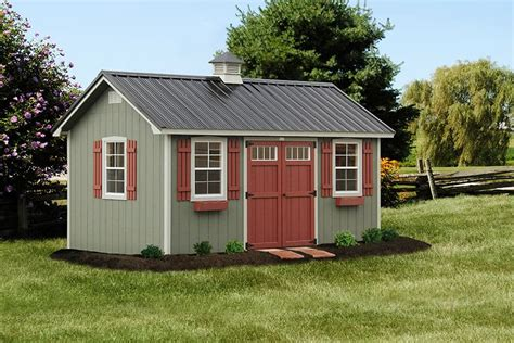 Backyard Sheds Designs by Photo Gallery Of The Lancaster Style Shed From Overholt In