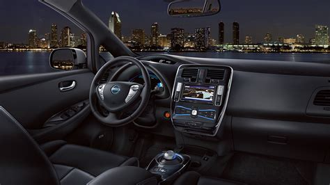 Nissan Leaf Interior by Automotivetimes 2014 Nissan Leaf Review