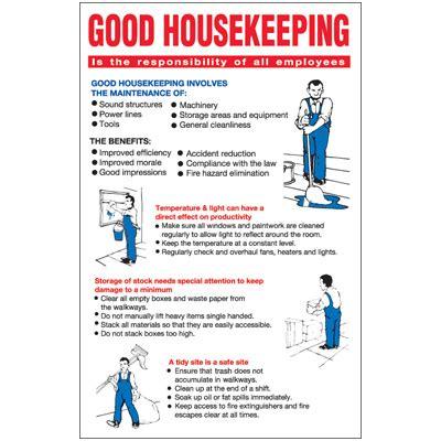 house keeping good housekeeping workplace wallchart emedco