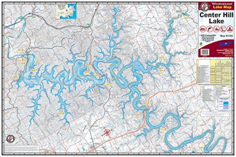 map of center center hill lake 1700 kingfisher maps inc