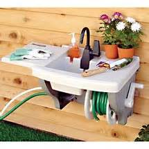 backyard gear outdoor sink with hose and hose reel