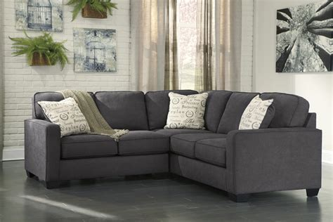 Furniture Alenya by Alenya Charcoal 2 Sectional Sofa For 789 94