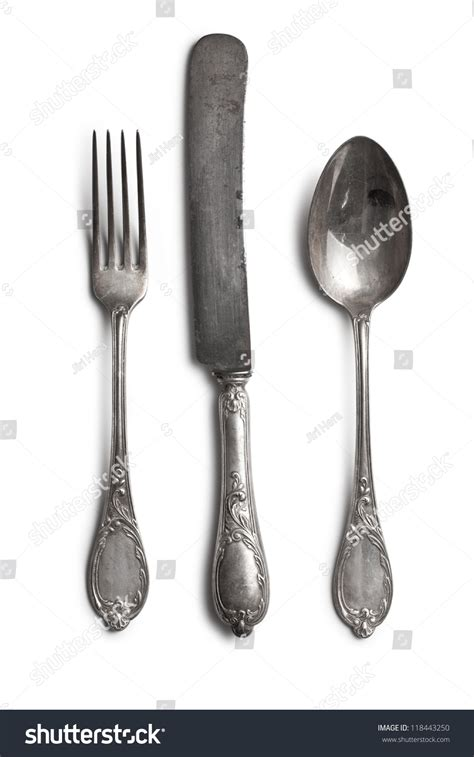 White Cutlery 1 cutlery on white background stock photo 118443250