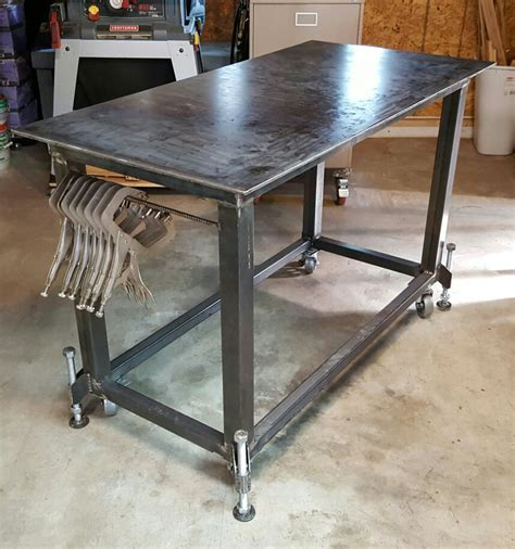 welding bench ideas welding table with leveling feet pinteres