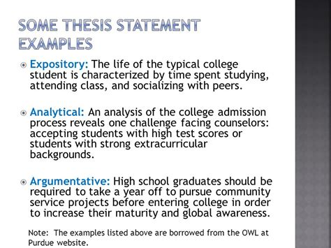 process analysis thesis statement exles starting with a strong foundation ppt